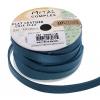 Flat Leather 10x2mm (5m Spool) Metallic Navy Blue